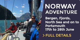 Sail from Bergen to the Historic City of Portsmouth