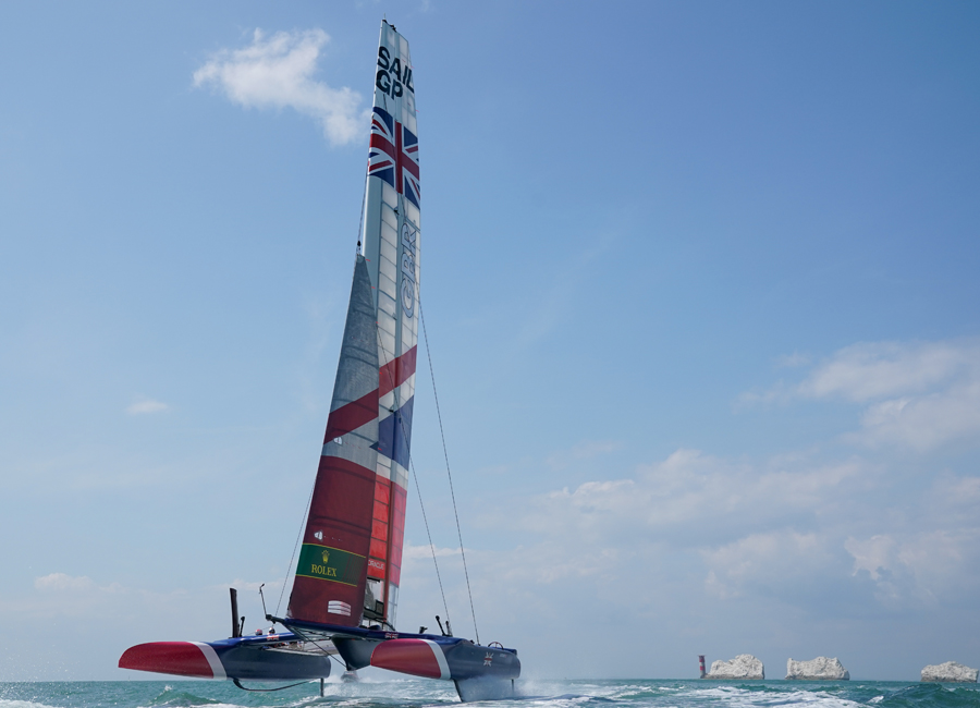 Great Britain SailGP Team off the Needles