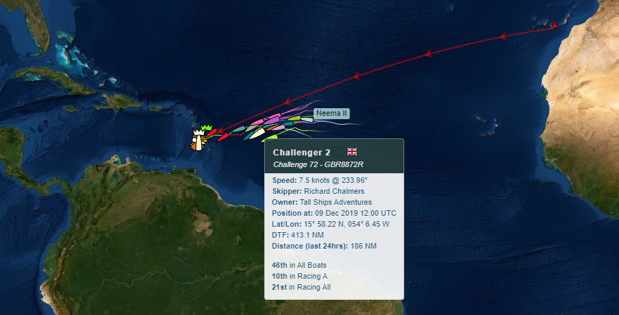 Map of Challenger 2's position in the ARC Rally Day 16