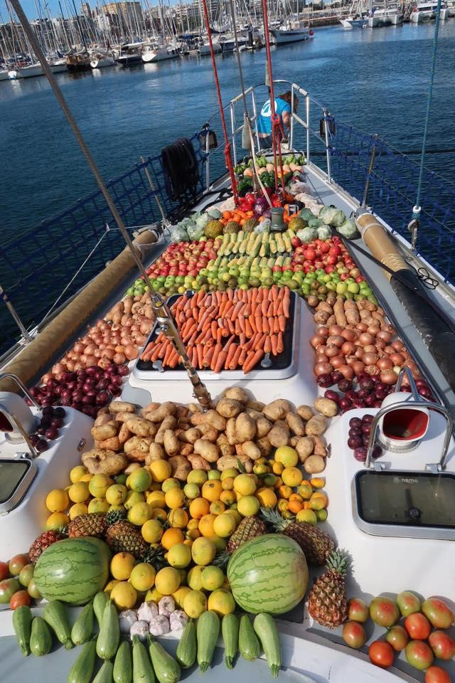 Fruit and Veg on deck